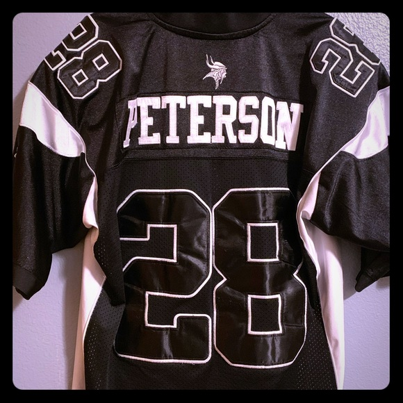 RARE Black Reebok Adrian Peterson Jersey Size 50